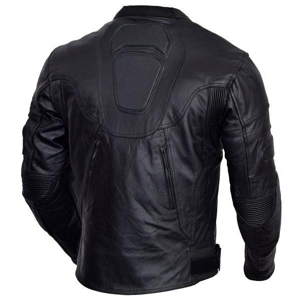 Mens-Black-Heart-Motorcycle-Leather-Race-Jacket