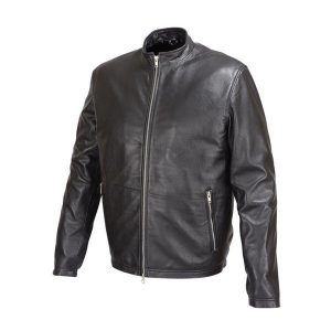 Mens-Basic-Leather-Jacket-Cafe-Racer-Style