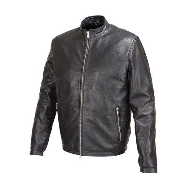 Mens-Basic-Leather-Jacket-Cafe-Racer-Style