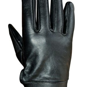 Unisex-Soft-Lambskin-Leather-Driving-Dress-Fashion-Everyday-Gloves-Black