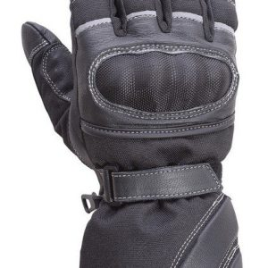Motorcycle-Carbon-Fiber-Knuckle-Leather/Textile-Ridinng-Gloves-Black