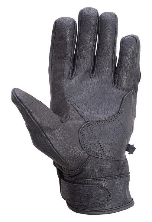 Motorcycle-Carbon-Fiber-Knuckle-Leather-Riding-Gloves-Black