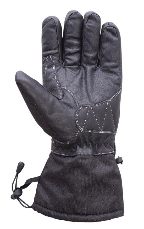 Motorcycle-Extra-Long-Gauntlet-Cowhide-Waterproof-Riding-Gloves