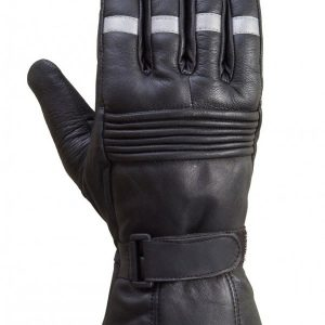 Biker-Reflective-Leather-Gloves