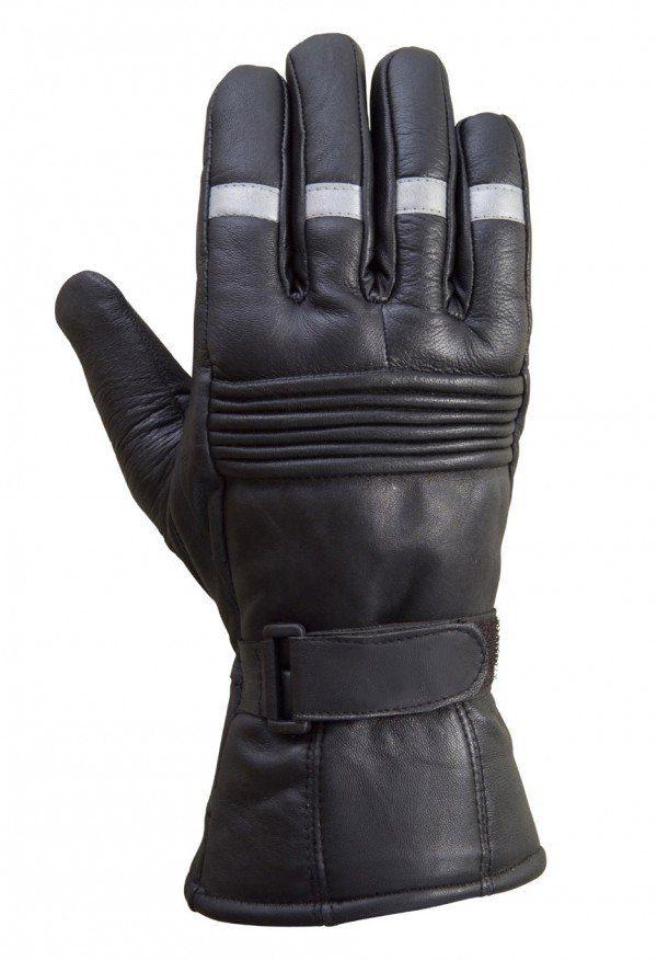 Biker-Reflective-Leather-Gloves