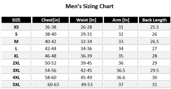 motorcycle-jacket-mans-sizing-chart