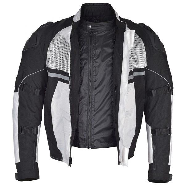 Men-Motorcycle-Textile-Multi-Season-Jacket-White-Black