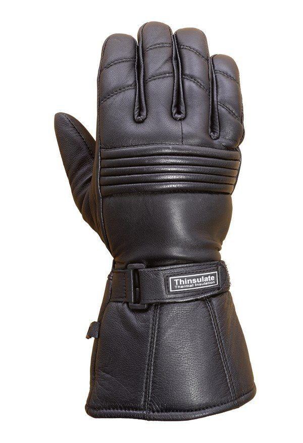 Premium-Leather-Long-Gauntlet-Biker-Winter-Gloves-G12