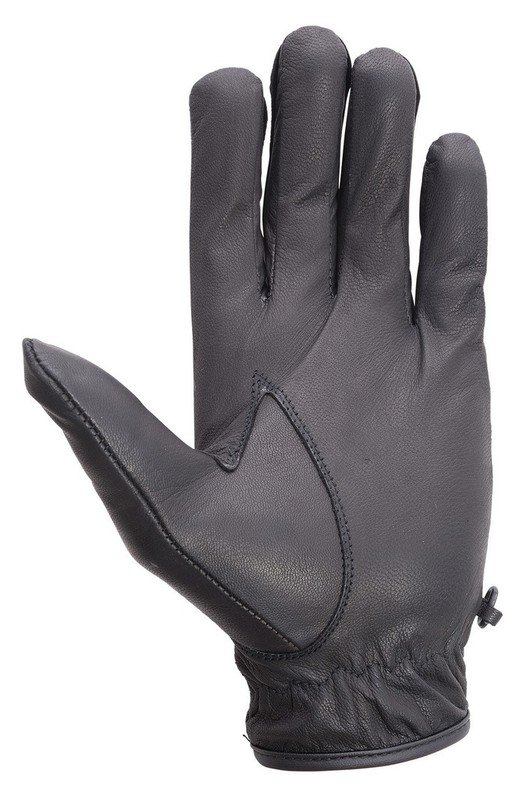 Unisex-Drum-Dyed-Cowhide-Leather-Driving-Cycling-Dress-Summer-Gloves-Black
