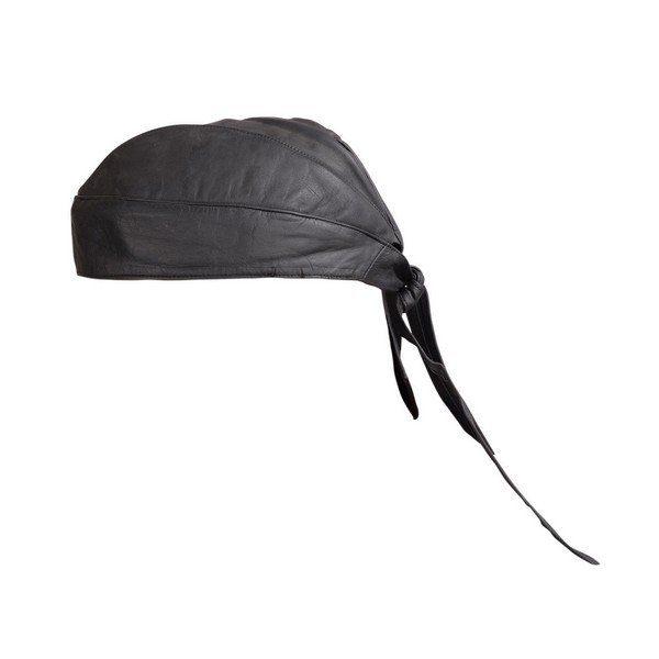 Genuine-Cowhide-Motorcycle-Leather-Head-Wrap-Skull-Cap