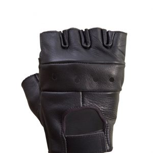 Leather-Half-Finger-Cycling/Riding/Gym-Gloves