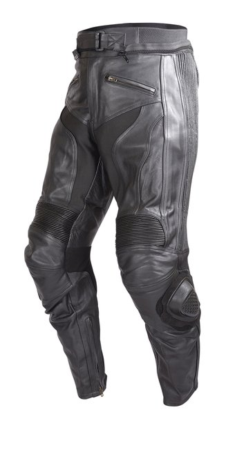 Mens-Motorcycle-Race-Leather-Pants-Black-with-CE-Rated-Armor-and-Sliders-PT51