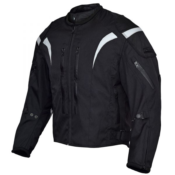 Mens-Blitz-Motorcycle-Waterproof-All-Season-Jacket-Black